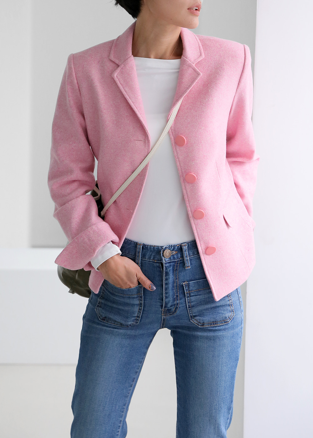 Classic Wool Jacket Pink